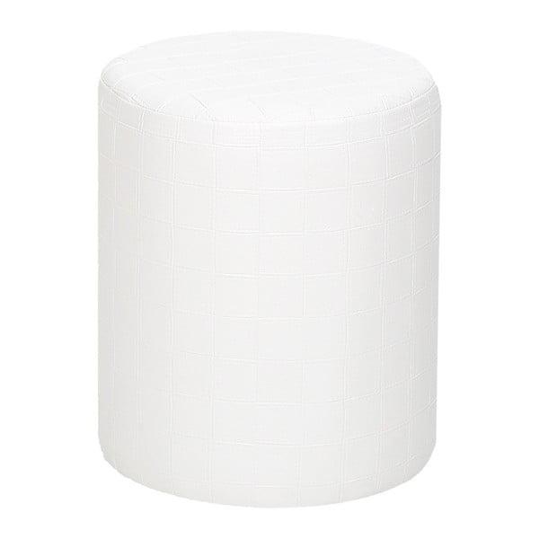 Biały puf okrągły Rodhios