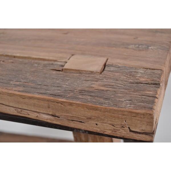 Stołek z drewna tekowego Rustic Erosi