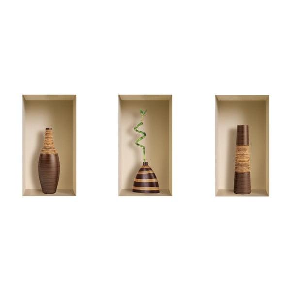 Naklejki na ścianę 3D Vases Balinai
