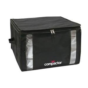 Czarny pojemnik z workiem próżniowym Compactor Black Edition, obj. 125 l