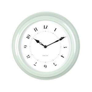 Zielony zegar ścienny Present Time Fifties, średnica 30cm
