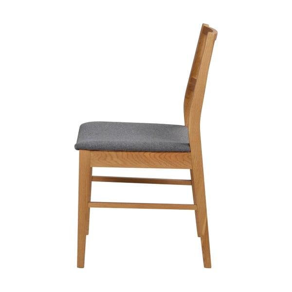 Zestaw 2 naturalnych krzeseł z drewna dębowego Folke Dan