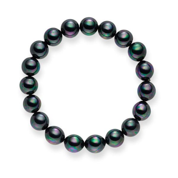 Bransoletka Nova Pearls Copenhagen Aurelie Dark Grey, 21 cm