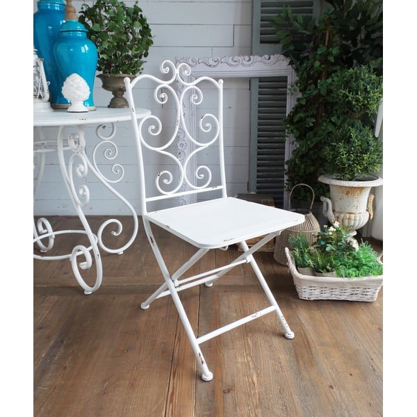 Krzesło metalowe Old White