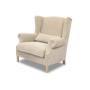 Kremowy fotel Rodier Alpaga