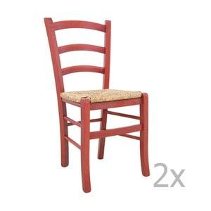 Zestaw 2 krzeseł Castagnetti Lavagna, czerwone