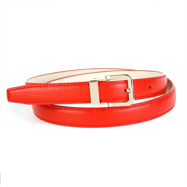 Pasek skórzany damski 44T60 Red, 80 cm