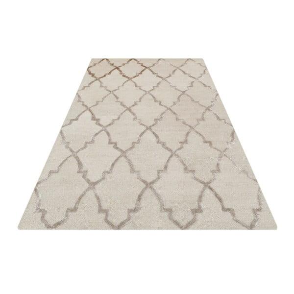 Kremowy dywan ręcznie tuftowany Bakero Kohinoor, 153x244 cm