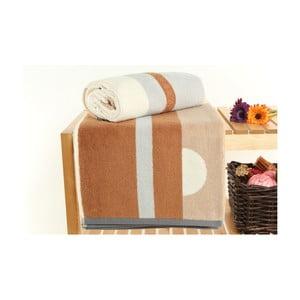 Zestaw 2 ręczników Punkle Nougat, 70x140 cm