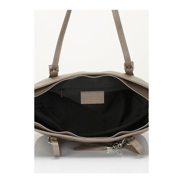 Beżowa torebka skórzana Lisa Minardi Gosha