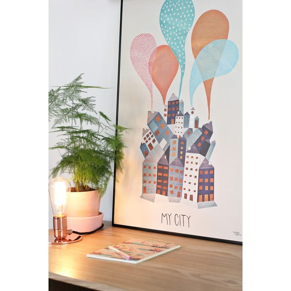 Plakat Michelle Carlslund My City, 30x40cm