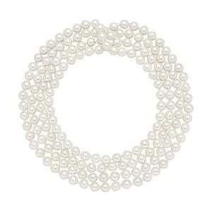 Perłowy naszyjnik Muschel, białe perły 6 mm, długość 120 cm