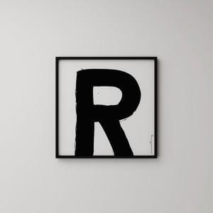 Plakat Litera R, 50x50 cm