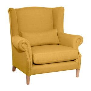 Żółty fotel Max Winzer Harvey