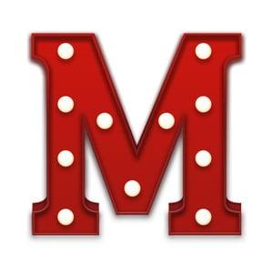 Światło dekoracyjne Carnival M, czerwone