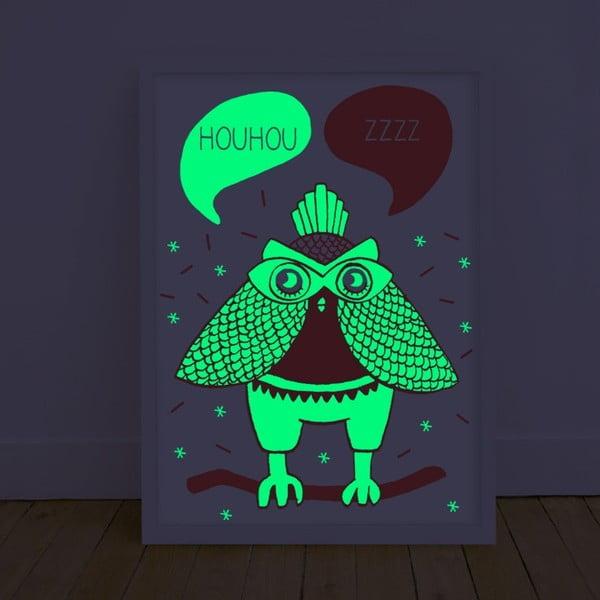 Fluorescencyjny plakat Loula