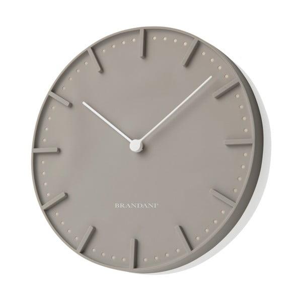 Szary zegar ścienny Mister Tacche