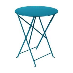 Niebieski stolik ogrodowy Fermob Bistro, Ø 60 cm