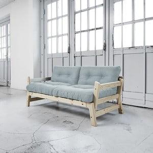 Sofa rozkładana Karup Step Natural/Sky Blue