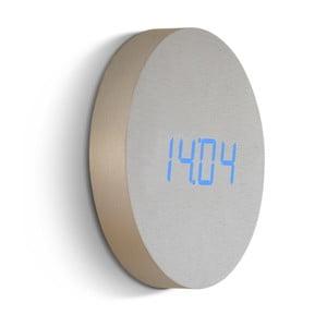Jasny ścienny budzik z niebieskim wyświetlaczem LED Gingko Round Clock