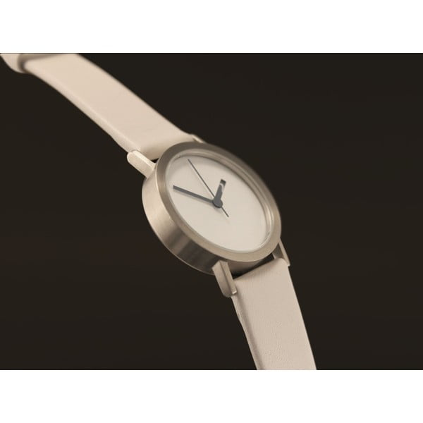Zegarek Extra Normal White Leather, 32 mm