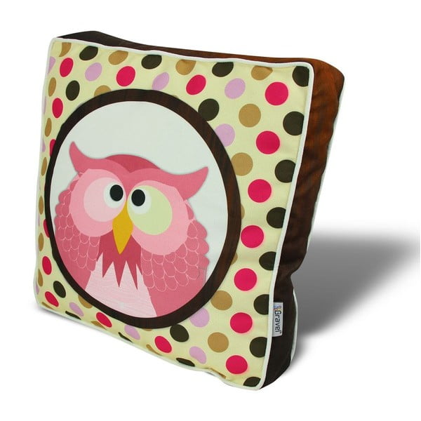 Poduszka na krzesło z wypełnieniem Mad Owl, 42x42 cm