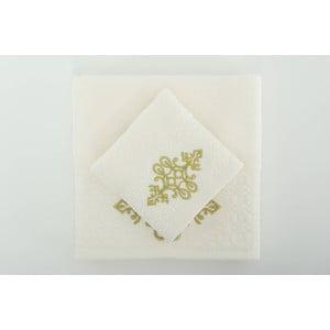 Komplet 2 ręczników Isle Cream Gold, 30x50 cm/50x90 cm