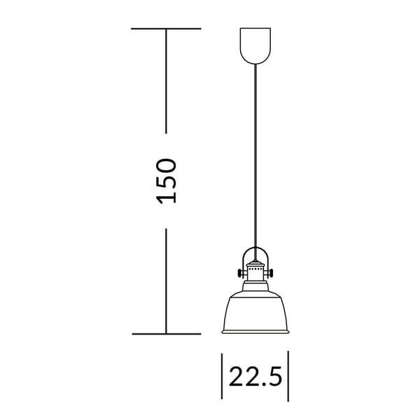 Biała lampa wisząca Garageeight Etel