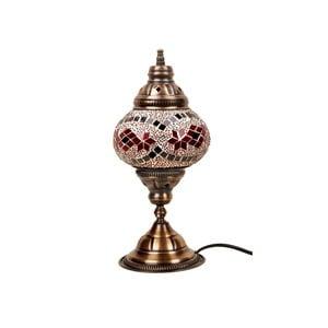 Szklana lampa stołowa Homemania Syrakusy, ⌀13cm