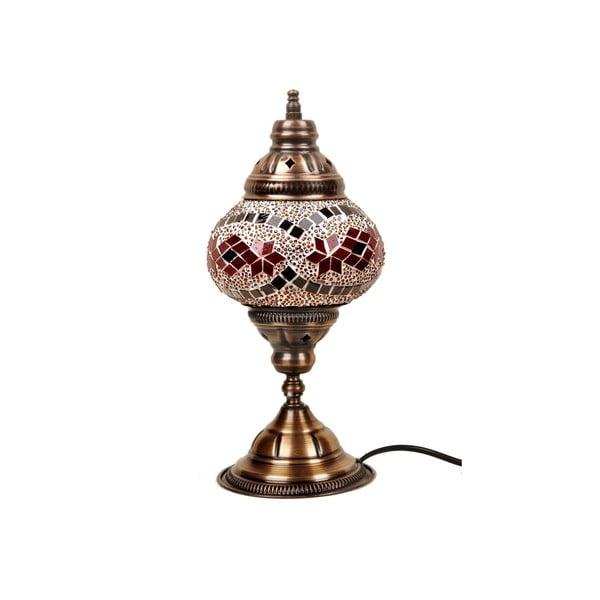 Szklana lampa stołowa Homemania Syrakusy, ⌀ 13 cm