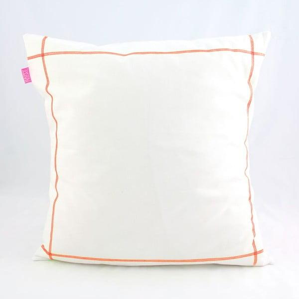 Poszewka na poduszkę Basic Fluor orange, 50 x 50 cm