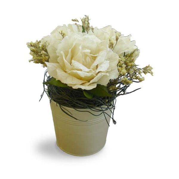 Doniczka ze sztucznymi kwiatami Bouquet, 21 cm