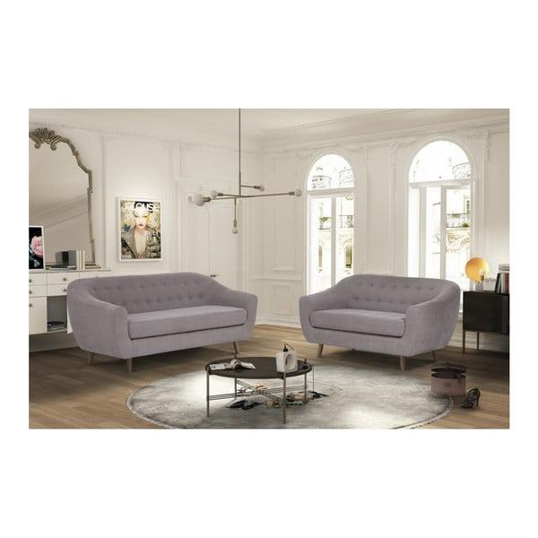 Brązowa sofa 3-osobowa Jalouse Maison Vicky