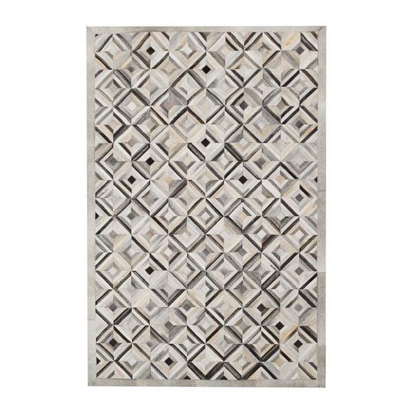 Dywan skórzany Sao Paulo Diamond Grey, 200x300 cm