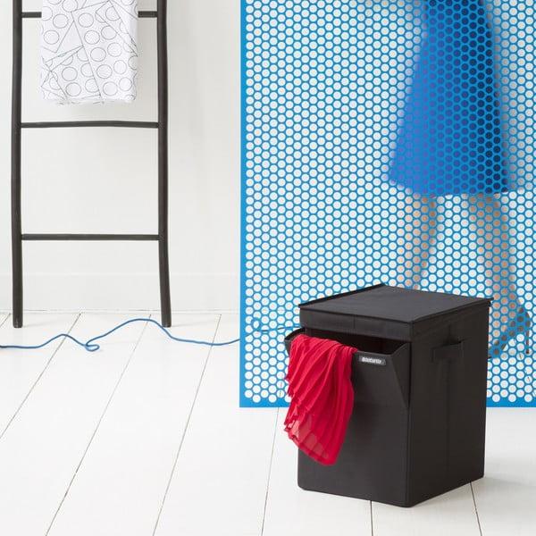 Czarny pojemnik na pranie Brabantia Hit Black, 35l