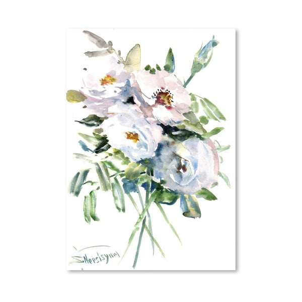 Plakat White Roses (projekt Suren Nersisyan)