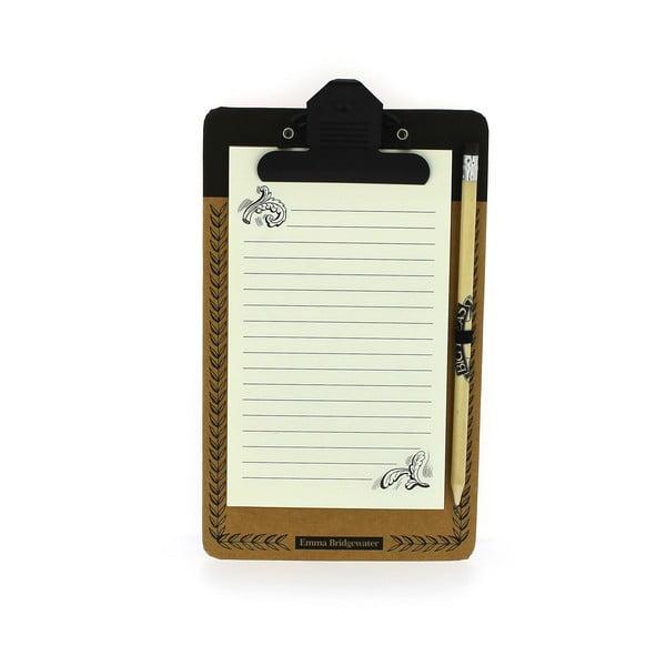 Notatnik   magnetyczny z ołówkiem Blueprint Collections Black Scroll