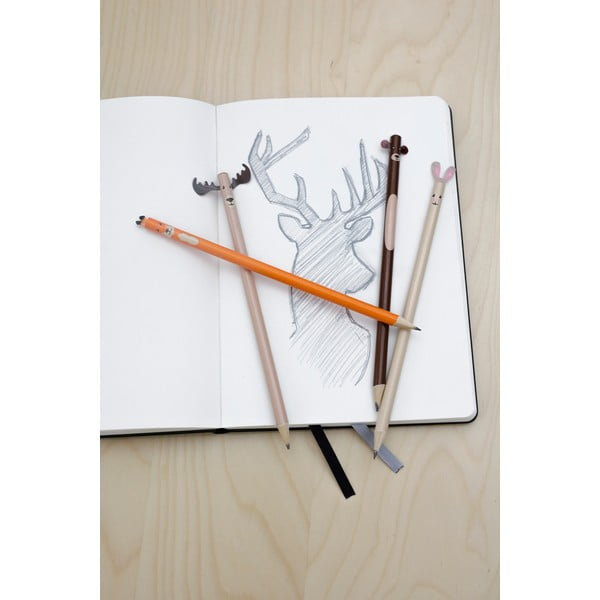 Komplet 4 ołówków Kikkerland Woodland