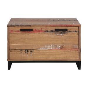Ławka z uchylnymi drzwiczkami z litego drewna sosnowego Støraa Santana