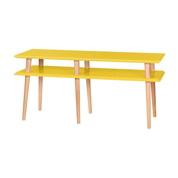 Żółty stolik Ragaba Mugo, dł. 119 cm