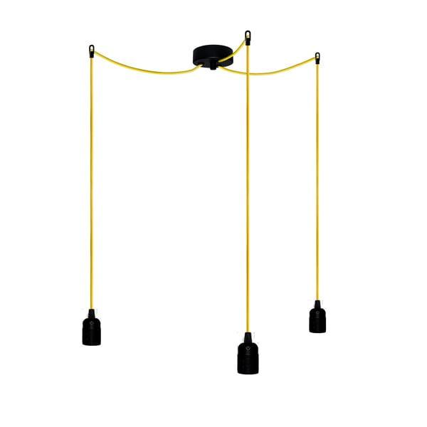 Trzy wiszące kable Uno, żółte/czarne