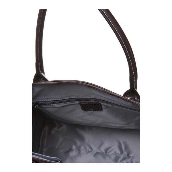 Skórzana torebka do ręki Canguru Pendant, brązowa