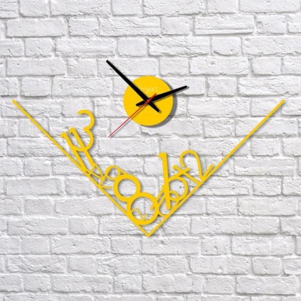 Zegar ścienny Yellow Get Lost