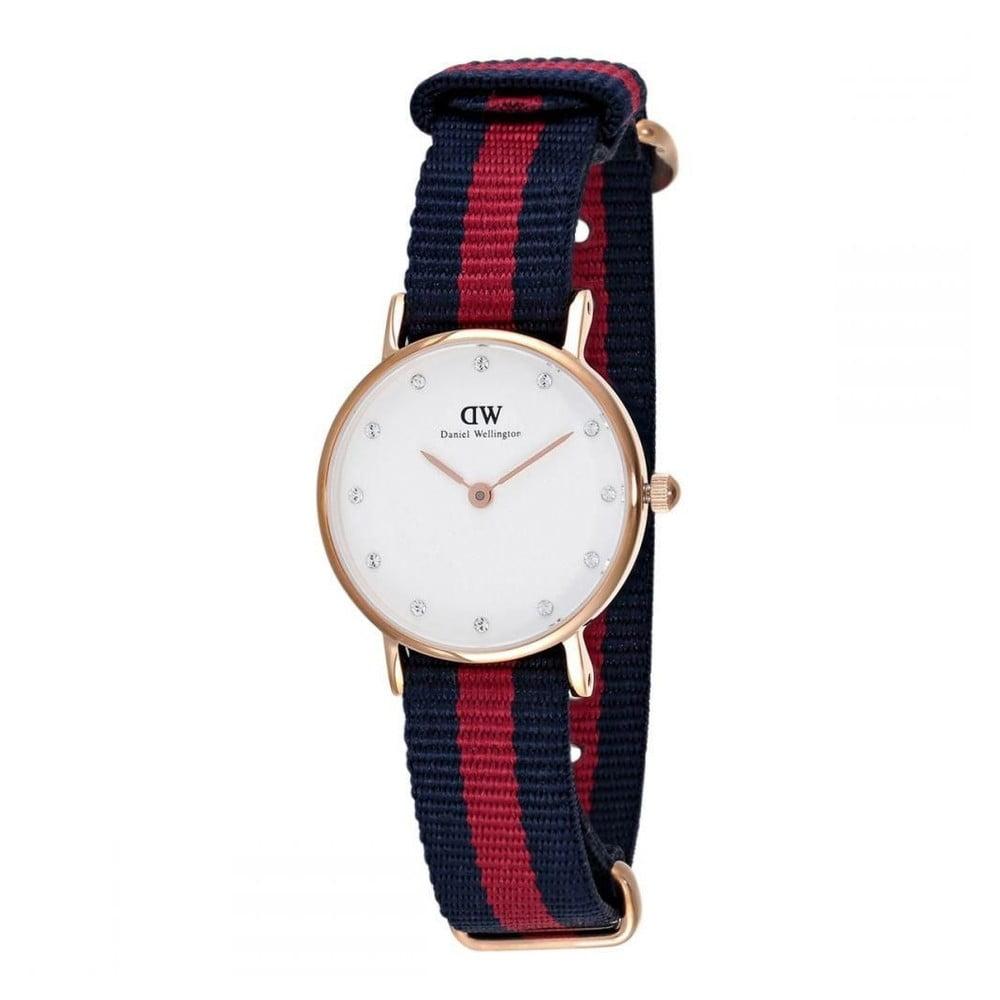 e1af14f32a8b96 Zegarek damski z detalami w barwie różowozłotej Daniel Wellington Oxford  Gold, ⌀ 26 mm