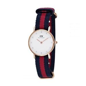 Zegarek damski z detalami w barwie różowozłotej Daniel Wellington Oxford Gold, ⌀ 26 mm