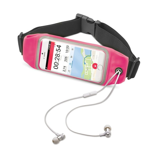 """Sportowa opaska, neopreonowa CELLY RunBelt View, na telefony do 4.7"""", różowa"""