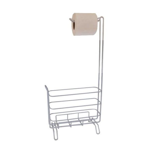 Stojak na papier toaletowy, metalowy, jasny