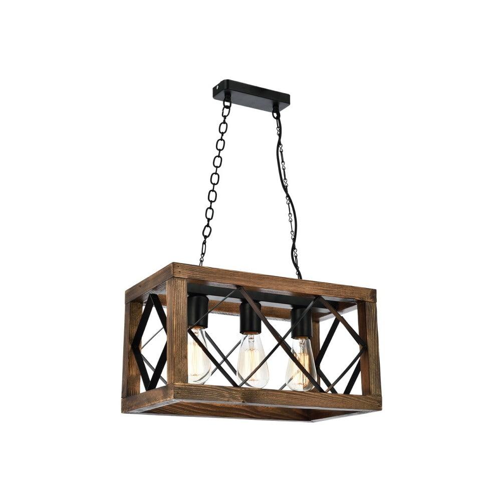 Lampa wisząca z drewna grabu Zikzak Rusti