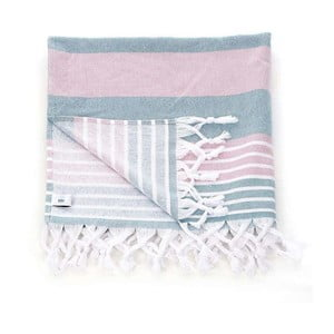Ręcznik hammam Pestemal Green Pink