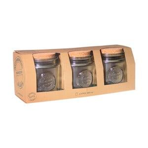 Zestaw 3 pojemników ze szkła z recyklingu Ego Dekor Authentic, 800ml